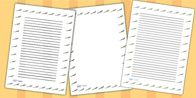 Lizard Page Borders - lizard, page borders, borders, writing