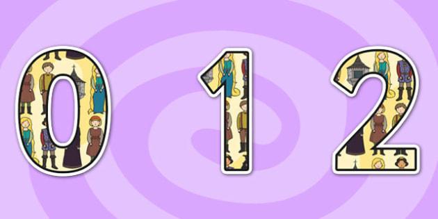 Rapunzel Themed Display Numbers - rapunzel, themed display numbers, number, display numbers, rapunzel numbers, themed numbers, rapuzel display