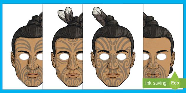 Māui and the Giant Ika Role Play Masks - Maui Myths Maori legends, myth, legend, NZ, role play, masks, dressing up, drama, play script