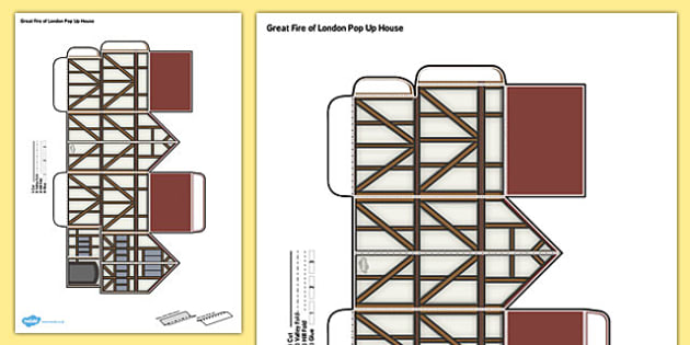 Tudor House Template | Great Fire Of London Pop Up House Great Fire Of London House