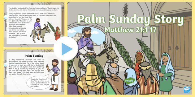 a1410a092 Palm Sunday Story PowerPoint - christianity