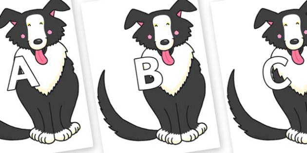A-Z Alphabet on Hullabaloo Sheepdog to Support Teaching on Farmyard Hullabaloo - A-Z, A4, display, Alphabet frieze, Display letters, Letter posters, A-Z letters, Alphabet flashcards
