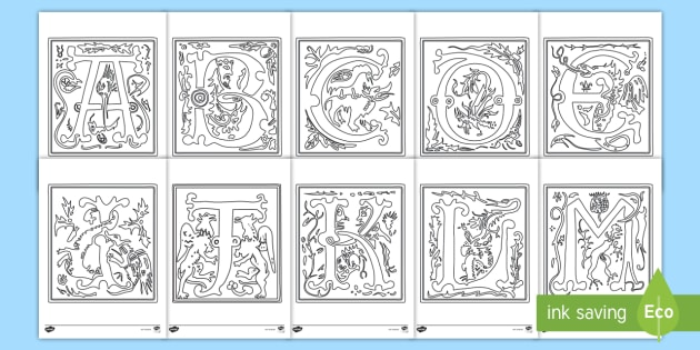 Alphabet In Bilderhandschrift Ausmalbilder Teacher Made