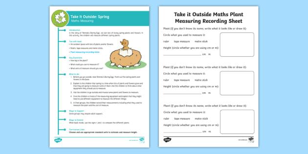 Ks1 Take It Outside Spring Maths Measure It Activity