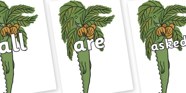 Tricky Words on Trick One to Support Teaching on The Enormous Crocodile - Tricky words, DfES Letters and Sounds, Letters and sounds, display, words