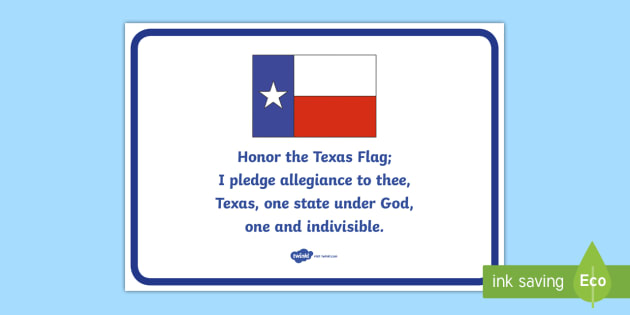 picture regarding Pledge of Allegiance Words Printable named Texas Region Pledge Poster - Nation background, Texas