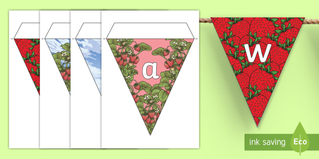 Strawberry Season Display Bunting - strawberries, strawberry plants, strawberry farming, strawberry picking, strawberry plant life cycle