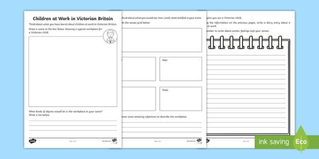 Children Working in Victorian Britain Worksheet - Children ...