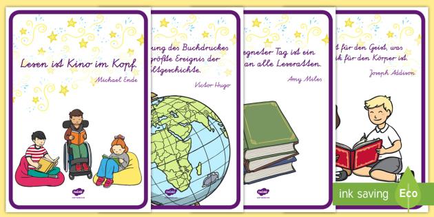 Lesen Ist Poster Din A4 Bücher Lesen Welttag Des