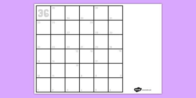 Blank Board Game And Instructions Template Blank Board Game