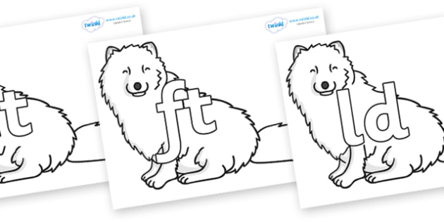 Final Letter Blends on Arctic Foxes - Final Letters, final letter, letter blend, letter blends, consonant, consonants, digraph, trigraph, literacy, alphabet, letters, foundation stage literacy