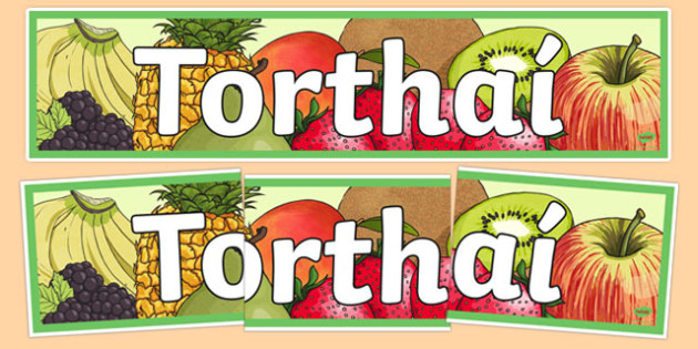 Bia Food Display Banner Torthai - bia, food, irish, gaeilge, display, banners, food types