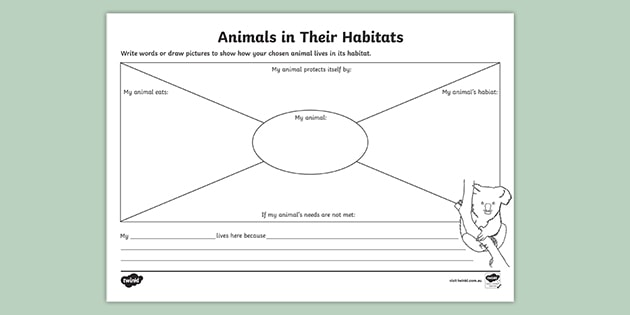 Animals In Their Habitats Worksheet Teacher Made - Download Ocean Habitat Worksheets For Kindergarten Gif