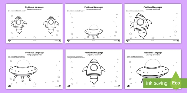 NEW * Alien Positional Language Worksheet / Activity Sheets