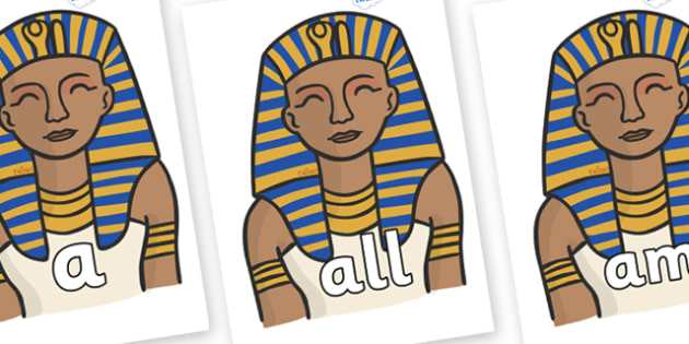Foundation Stage 2 Keywords on Pharaoh - FS2, CLL, keywords, Communication language and literacy,  Display, Key words, high frequency words, foundation stage literacy, DfES Letters and Sounds, Letters and Sounds, spelling