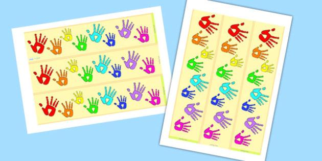 Handprint Display Borders- display borders, handprint, handprint themed, themed borders, themed header, header, display border, display header, display