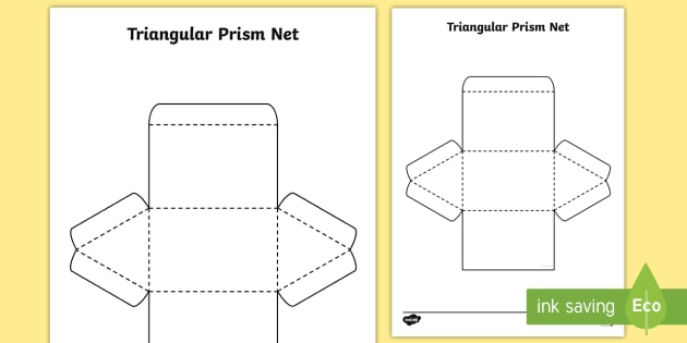 how to draw a net for a triangular prism