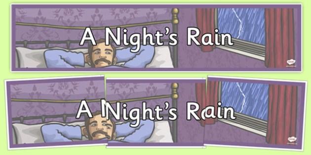 Walter Wingate: A Night's Rain Display Banner - cfe, walter wingate, a nights rain, display banner