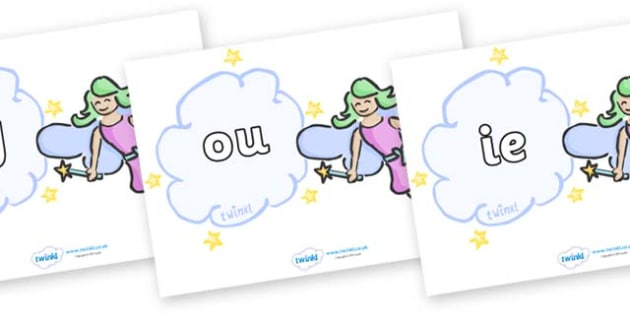 Phase 5 Phonemes on Fairies - Phonemes, phoneme, Phase 5, Phase five, Foundation, Literacy, Letters and Sounds, DfES, display