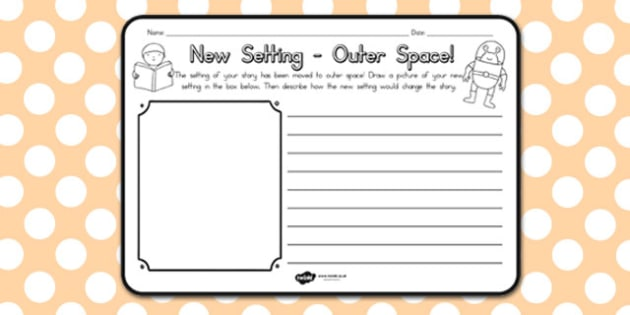 New Setting Outer Space Comprehension Worksheet - worksheets
