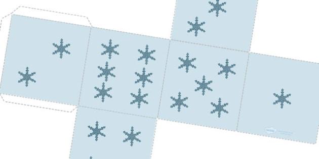Snowflake Dice Net - snow, snowflake, christmas, dice, winter