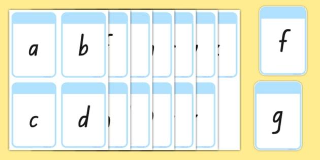 New Zealand Alphabet Flashcards
