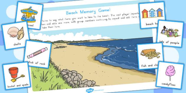 Beach Memory Game - australia, beach, memory, game, activity