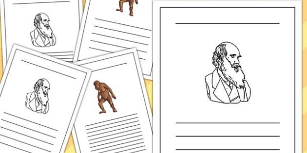 Charles Darwin Writing Frame - charles, darwin, writing, frame