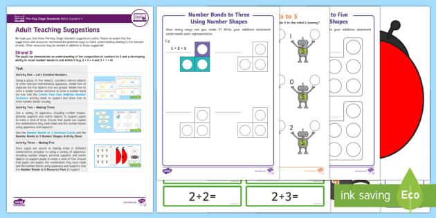 Pre-Key Stage Standards Maths Standard 4 Strand D Resource Pack