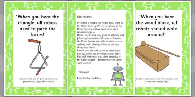 Robot Movement Phonics Game Resource Pack - robot, movement