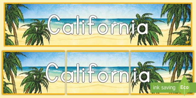 California Display Banner - california, state of california, california display banner, california display, display banner, soci
