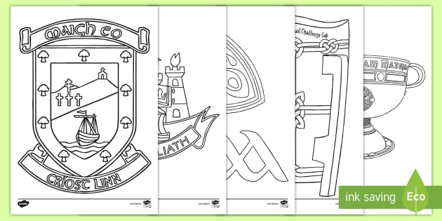 GAAS Sam Maguire Colouring Pages