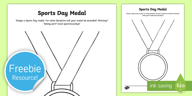free design a sports day medal worksheet worksheet sport 39 s day. Black Bedroom Furniture Sets. Home Design Ideas