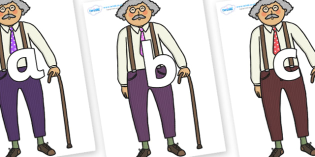 Phoneme Set on Little Old Man - Phoneme set, phonemes, phoneme, Letters and Sounds, DfES, display, Phase 1, Phase 2, Phase 3, Phase 5, Foundation, Literacy