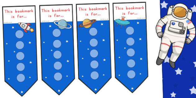 Space Small Sticker Reward Bookmarks - Stickers, Bookmark, Little