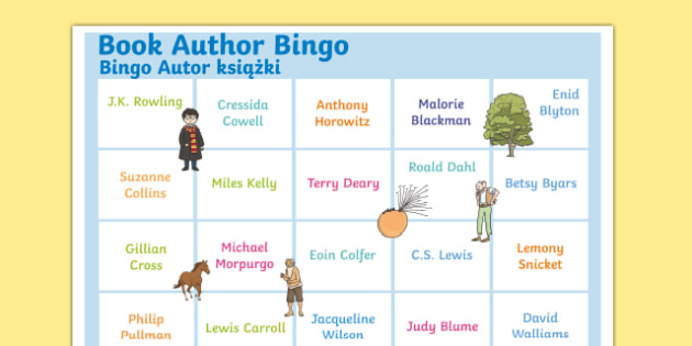 Book Author Bingo A3 Display Poster Polish Translation-Polish-translation