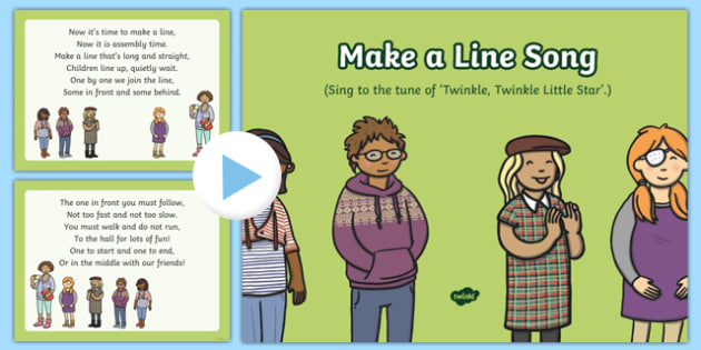 Make a Line Song PowerPoint