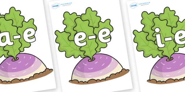 Modifying E Letters on Turnip in the Ground - Modifying E, letters, modify, Phase 5, Phase five, alternative spellings for phonemes, DfES letters and Sounds