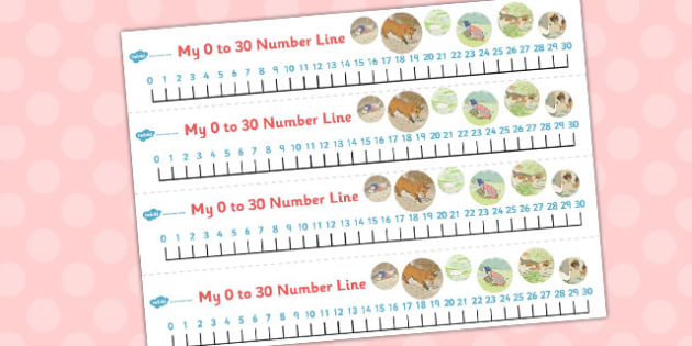 The Tale of Jemima Puddle-Duck Number Lines 0-30 - jemima puddle-duck
