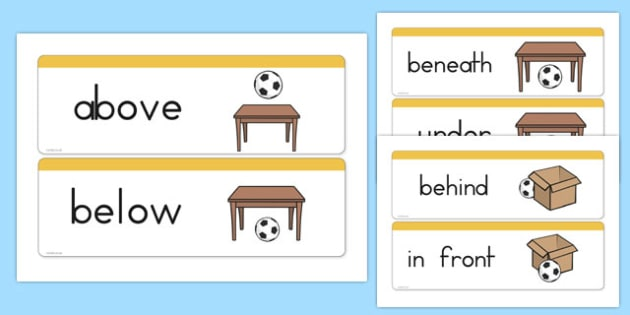 Positional Vocabulary Cards USA - usa, america, positional, vocabulary, cards