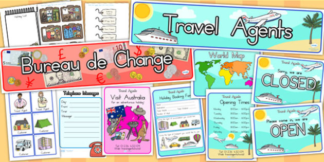 Travel Agents Role Play Pack - travel agents, role play, roleplay