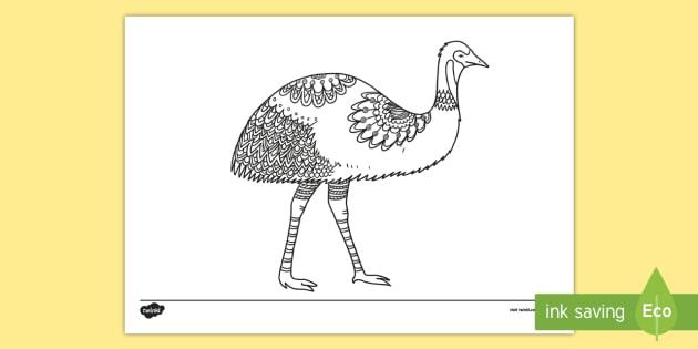 au t2 t 1313 emu mindfulness colouring page english australian ver 1