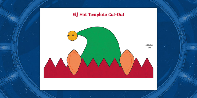 new santa s elf hat template cut outs year 1 y1 year 2