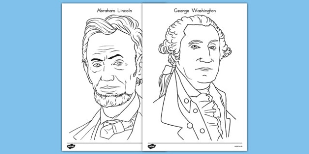 Presidents' Day Coloring Pages - presidents day, usa, coloring pages