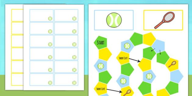 Wimbledon Themed Editable Board Game - sports, tennis, games