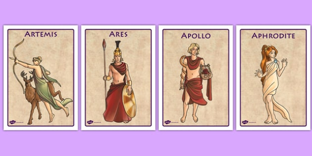 Ancient Greek Gods Display Posters - ancient greece, greeks