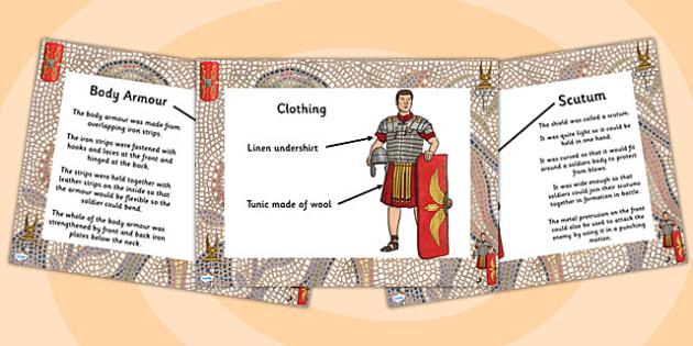 Roman Soldier Uniform Information PowerPoint - roman solider