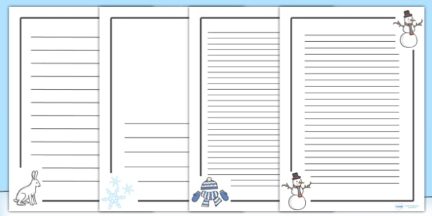 Winter Images Page Borders - winter, page borders, borders, xmas