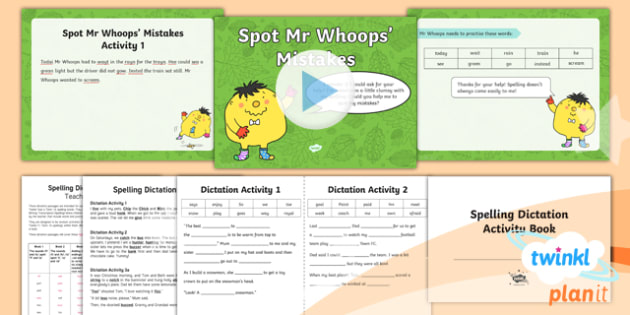 PlanIt Y1 Term 1B Assess and Review Spelling Pack - Spelling Packs Y1, Term 1B, Assess and review, spellings, year, 1, ks1, mistakes, dictation, passage