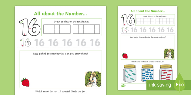 New All About Number 16 Worksheet All About Number Number Of